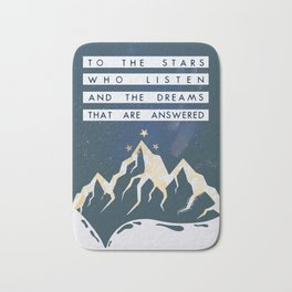 To The Stars Who Listen ACOMAF Bath Mat