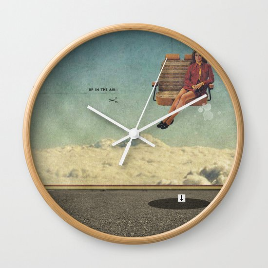 Up In The Air | Collage Wall Clock