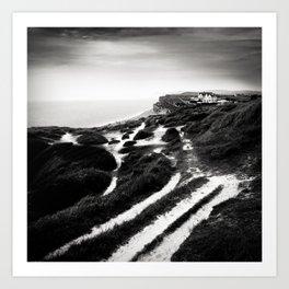 coastal path Art Print