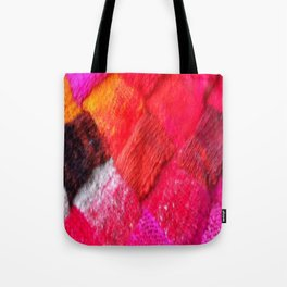 Red Entrelac Tote Bag