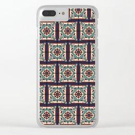 Festive Boho Talavera Tile Clear iPhone Case