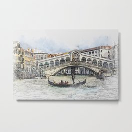 Venice Italy Canal 1 Metal Print