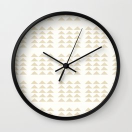 Tribal Triangles in Tan Wall Clock