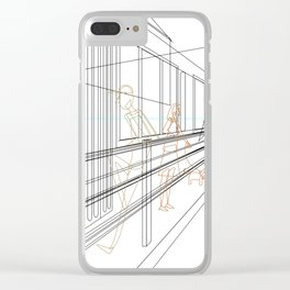 Tram stops Clear iPhone Case