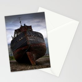 Left high and dry. Stationery Cards