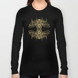 Death's Head Hawkmoth – Gold Palette Long Sleeve T-shirt