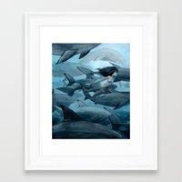 shark Framed Art Prints featuring Shark by Renee Nault