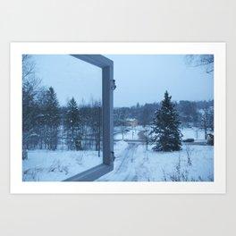 The Blue Moment - Finland in the winter #4 - Fiskars Artist Village  Art Print