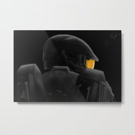 Halo 4 Master Chief Fan Art Print Metal Print