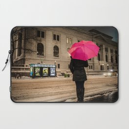 Girl with the Pink Umbrella Laptop Sleeve