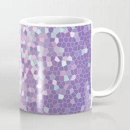 Aqua and Violet Purple Mosaic Coffee Mug
