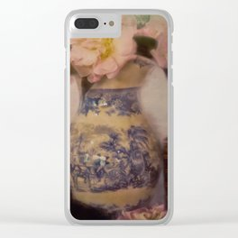 Winter Camelias Clear iPhone Case