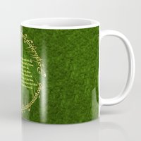 lord of the rings Mugs featuring THE LORD OF THE RINGS by Bilqis