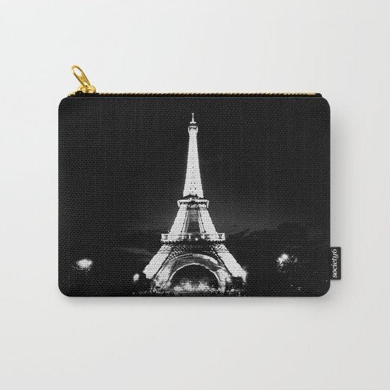 Paris Black & White Carry-All Pouch