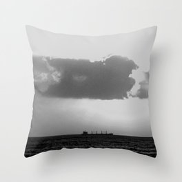 Evening clouds over the sea Throw Pillow