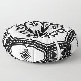 Black and White Tile Pattern Shabby Chic Home Decor Floor Pillow