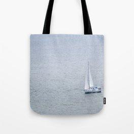 Lonely Sailboat Tote Bag