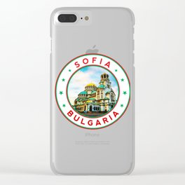 Sofia, Bulgaria, Alexander Nevsky Cathedral, circle, white Clear iPhone Case