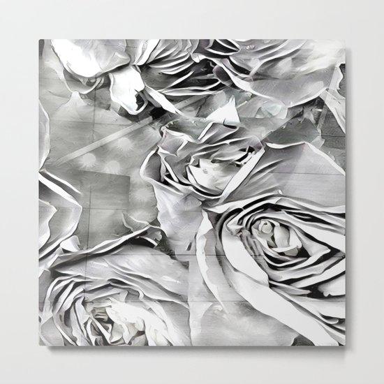 Paper Heart Roses Metal Print