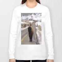 montana Long Sleeve T-shirts featuring Montana Traffic Jam by Kim Ramage