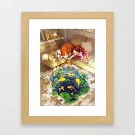 Puzzles of Imagination: Koi Pond Framed Art Print