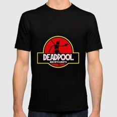 Deadpool : Merc with a Mouth Black LARGE Mens Fitted Tee