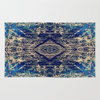 mineral Area & Throw Rugs featuring Labradorite Mineral by j kelso (SeaBelly)