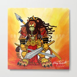 Emperor Leo ( The Imperial Lion Warrior King) Metal Print
