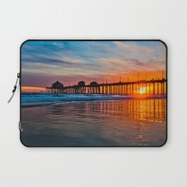 HB Sunsets - Sunset At The Huntington Beach Pier 3/10/16 Laptop Sleeve