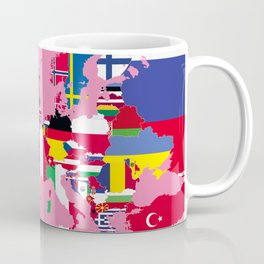 Europe flags pink Coffee Mug
