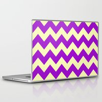 dessert Laptop & iPad Skins featuring Chevron Plum Dessert by Alice Gosling
