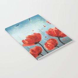 Poppy flowers - Misty Forest Notebook