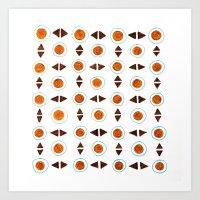Brown pattern Art Print