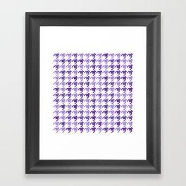 AFE Violet Houndstooth Pattern Framed Art Print