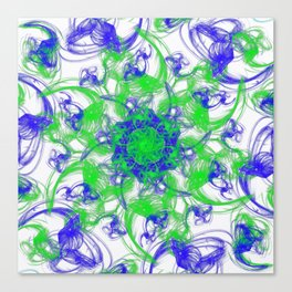 Symmetrical Swirl Canvas Print