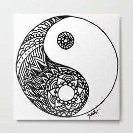 Tangled Yin Yang Metal Print