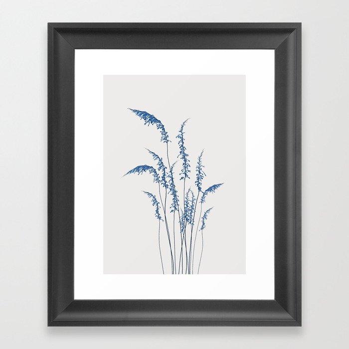 Blue flowers 2 Gerahmter Kunstdruck