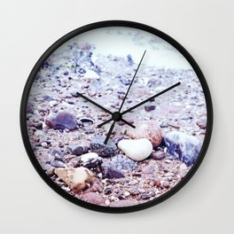 Colorful Stones by the Baltic Sea Wall Clock