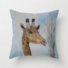 Giraffe Smile Throw Pillow