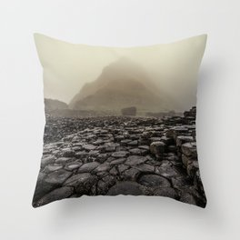 The land of mountains and stones Throw Pillow