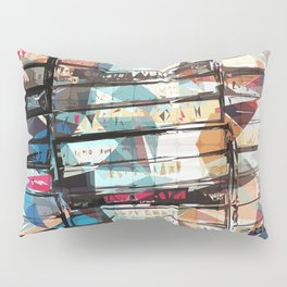 Musical Cassette Tapes Collage Pillow Sham