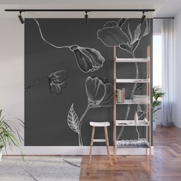 Grey And White Wall Mural