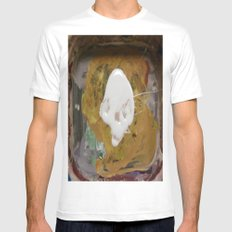 SKULL PAINT Mens Fitted Tee White SMALL