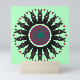 Sweet Scottie Mandala Design Mini Art Print