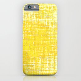 Woven Illuminating Yellow and White Abstraction iPhone Case