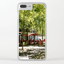 Street Cafes Clear iPhone Case