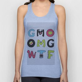 OMG GMO WTF - GMOnsters Anti Monsanto Art Print Unisex Tank Top