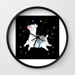 Llama Alpaca Gift Idea Design Motif Wall Clock