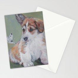 Pembroke Welsh Corgi dog portrait painting by L.A.Shepard fine art Stationery Cards