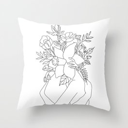 Blossom Hug Throw Pillow